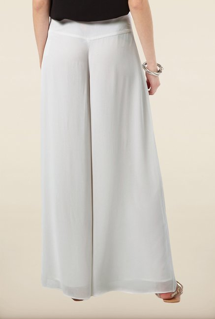 Phase Eight White Wide Leg Trousers