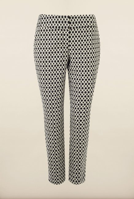 Phase Eight Black Printed Casual Trousers