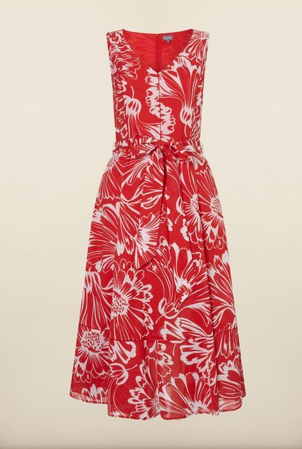 Phase Eight Red Floral Summer Dress
