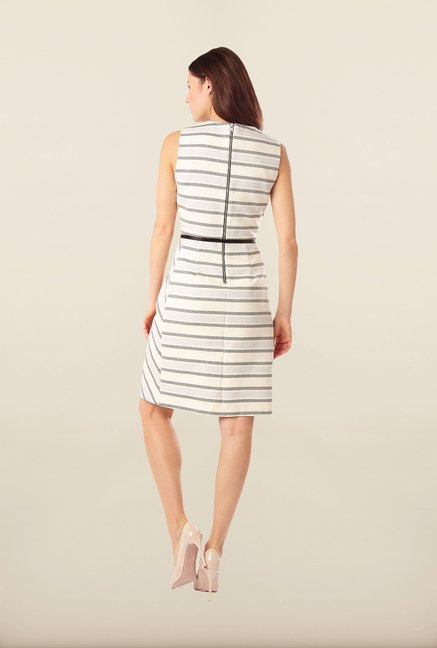 Phase Eight White Striped Casual Dress