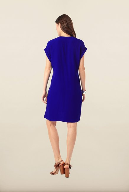 Phase Eight Blue Solid Tunic Dress