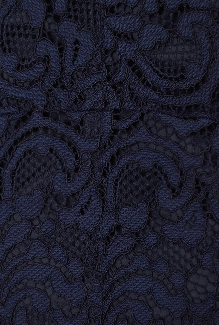 Phase Eight Navy Sheer Lace Dress