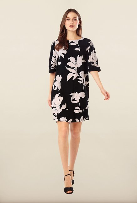 Phase Eight Black Floral Shift Dress