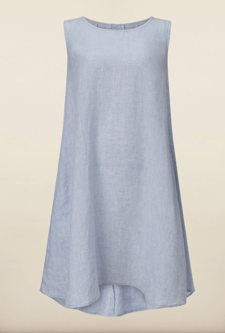 Phase Eight Blue Linen Swing Dress