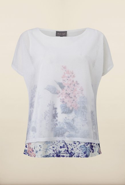 Phase Eight White Printed Overlay Top