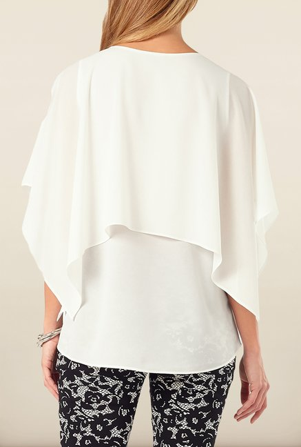 Phase Eight White Double Layer Top