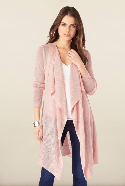 Phase Eight Pink Linen Blend Cardigan