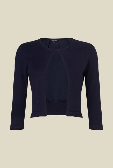 Phase Eight Navy Solid Cardigan