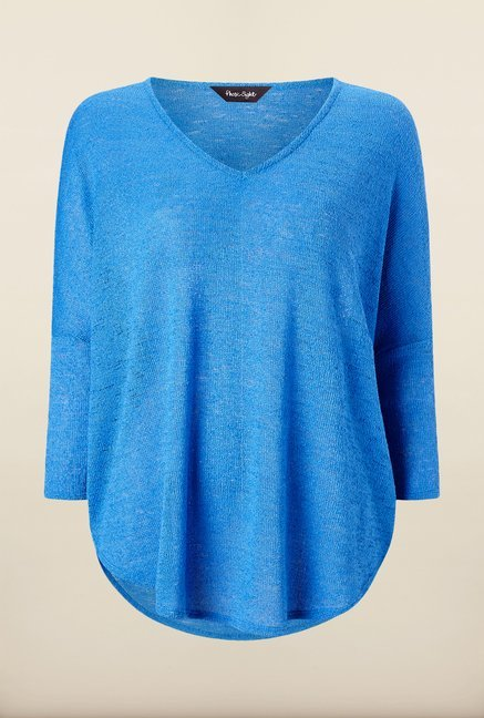 Phase Eight Blue Textured Top