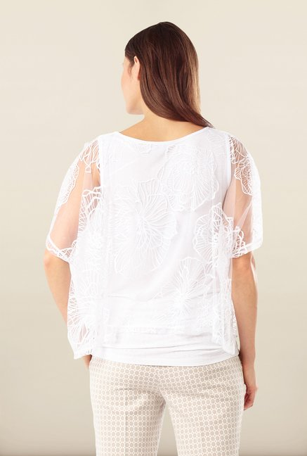 Phase Eight White Floral Printed Top