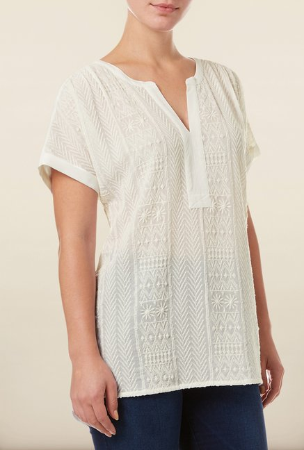 Phase Eight White Embroidered Tunic