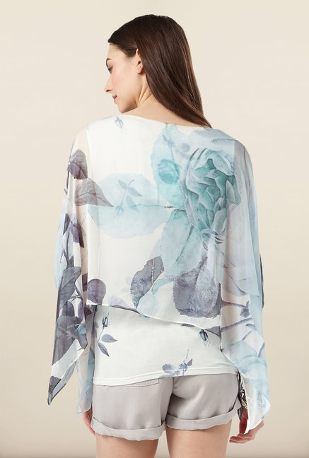 Phase Eight White Rose Print Top