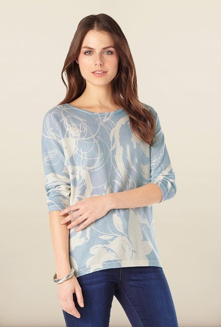 Phase Eight Blue Printed Top