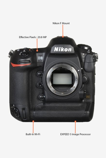 Nikon D5 DSLR Camera with 128 GB XQD Card (Body Only) Black
