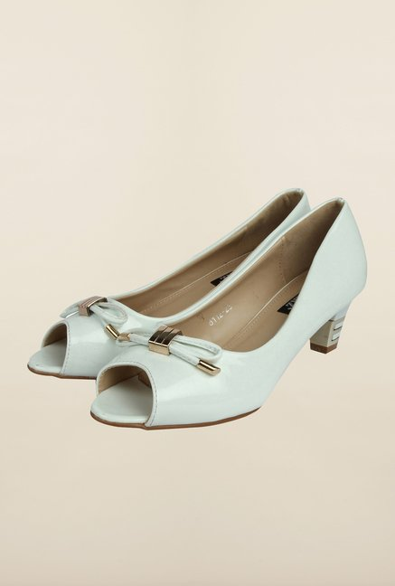 Cobblerz White Peep Toe Shoes