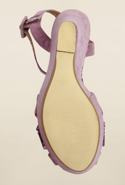 Cobblerz Purple Wedge Sandals