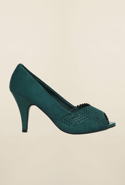 Cobblerz Green Stiletto Sandals