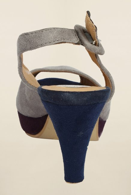 Cobblerz Grey Stiletto Sandals