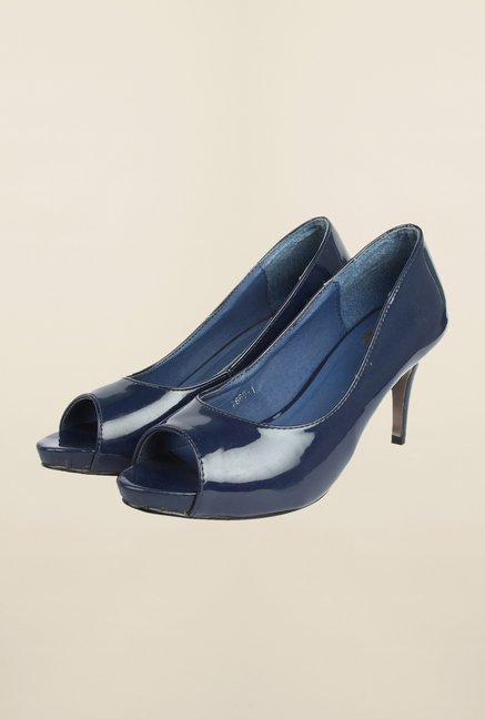 Cobblerz Navy Stiletto Sandals