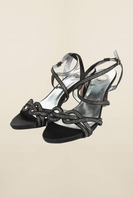 Cobblerz Black Kitten Sandals