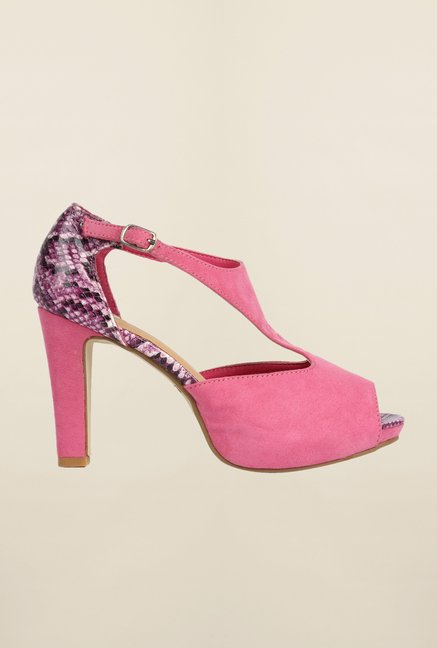 Cobblerz Fuchsia Stiletto Sandals