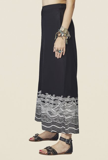 Global Desi Black Yara Printed Palazzo