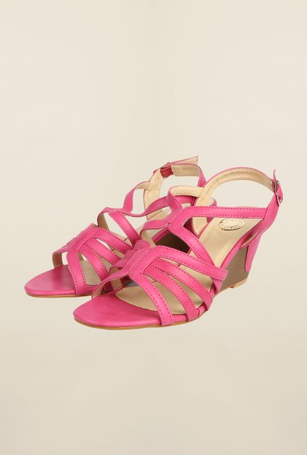 Cobblerz Fuchsia Wedge Sandals
