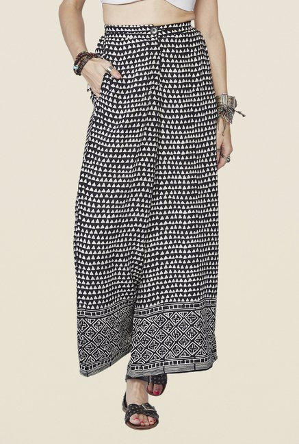 Global Desi Black Tallulah Printed Palazzo