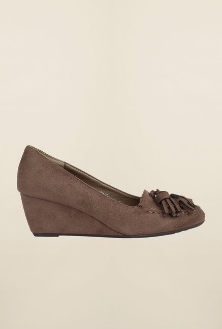 Cobblerz Brown Wedge Shoes