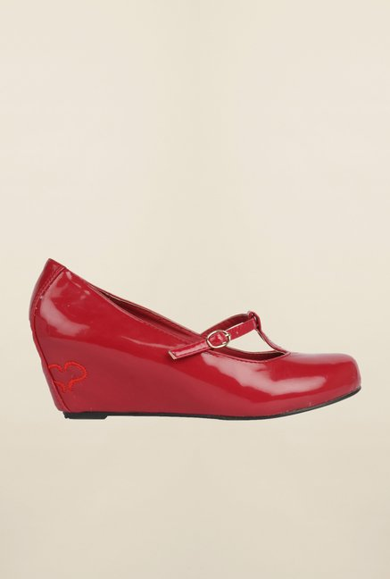 Cobblerz Red Wedge Shoes