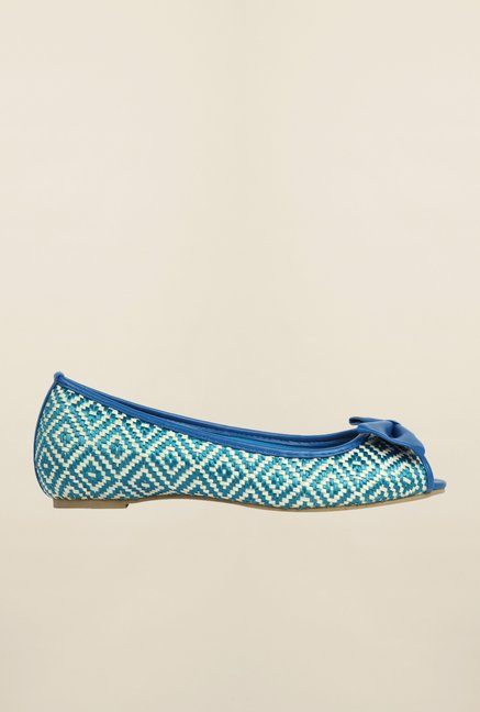 Cobblerz Blue Flat Shoes