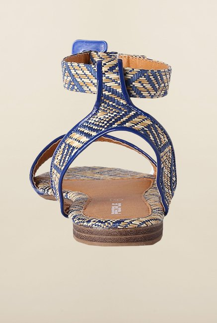 People Blue Ankle Strap Sandals