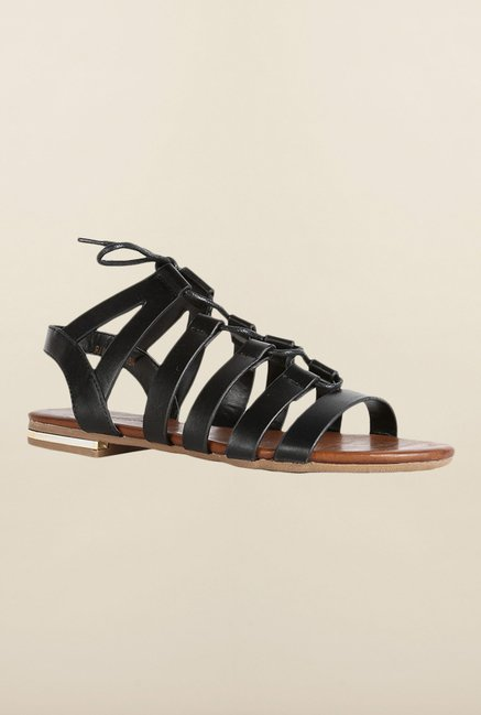 Van Heusen Black Gladiator Sandals