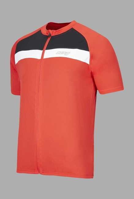 Berg Red Solid Cycling T Shirt