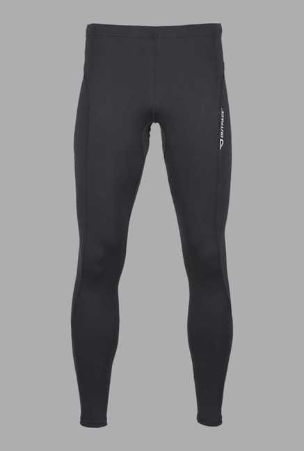 Outpace Black Solid Running Track Pants
