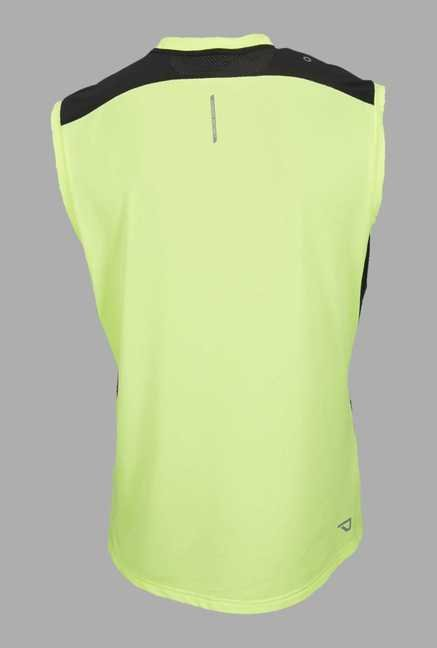 Outpace Lime Solid Running Singlet