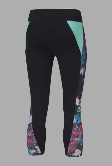 Doone Black Slim Fit Training Capri