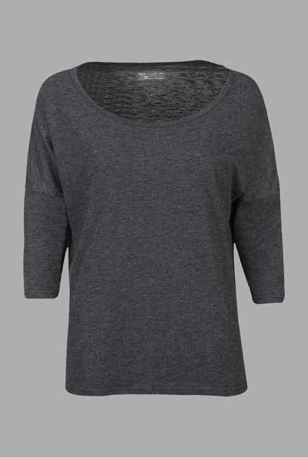 Doone Grey 3/4th Sleeve Training T Shirt