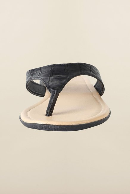 Allen Solly Black Flat Thongs