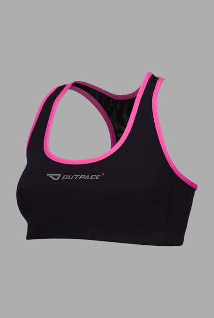 Outpace Black Running Sports Top