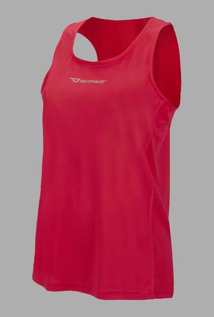 Outpace Pink Solid Running Singlet