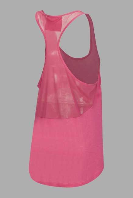 Doone Pink Printed Training Tank Top