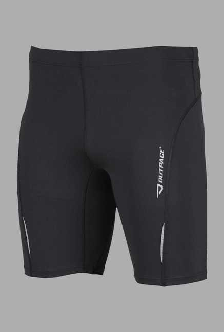 Outpace Black Slim Fit Running Shorts