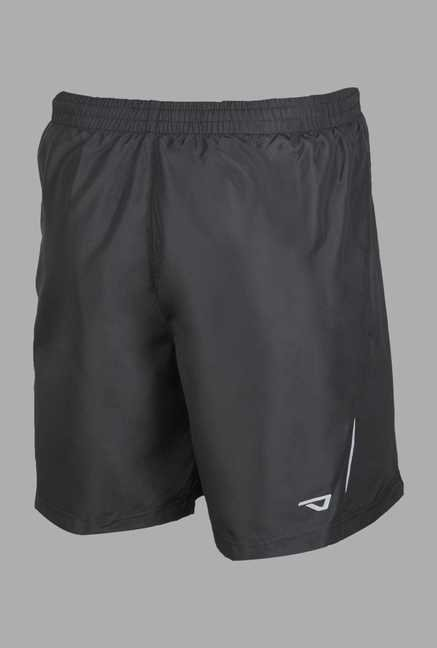 Outpace Black High Rise Running Shorts