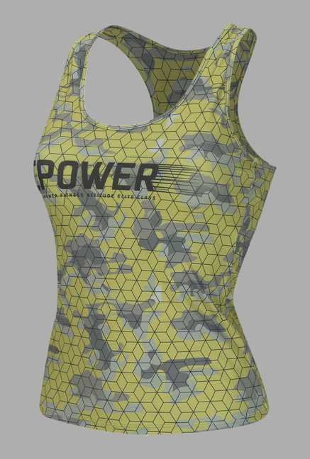 Doone Yellow Printed Training Singlet