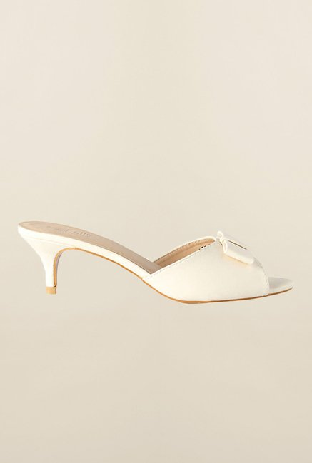 Allen Solly White Slide Sandals