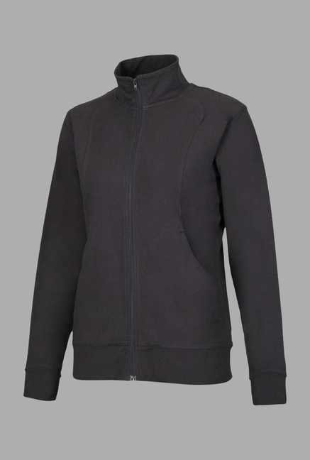 Doone Black Solid Training Jacket