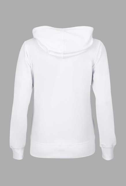 Doone White Solid Training Jacket