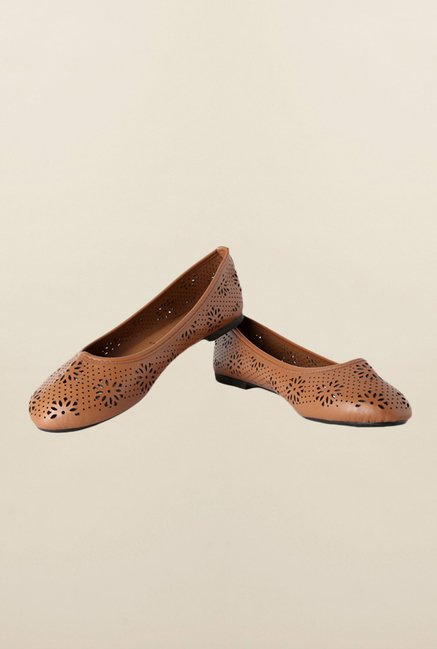 People Brown Ballerina Shoes