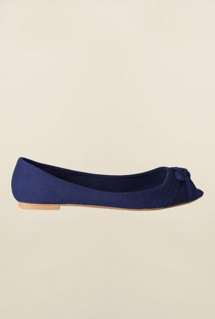 People Navy Peep Toe Shoes